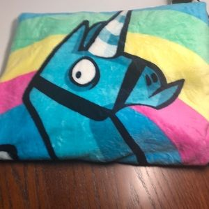 Fortnite colorful throw.  Soft and plush